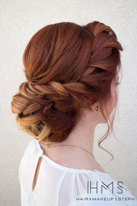 Fryzury ślubne dla rudych włosów - 9