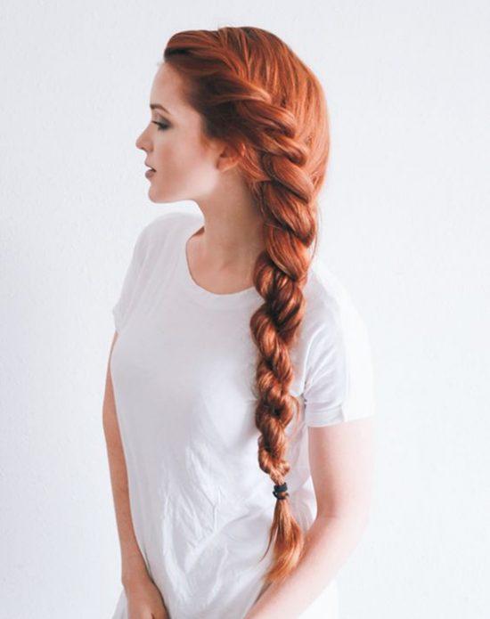 Fryzury ślubne dla rudych włosów - 15