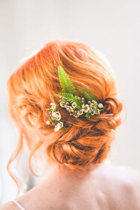 Fryzury ślubne dla rudych włosów - 16