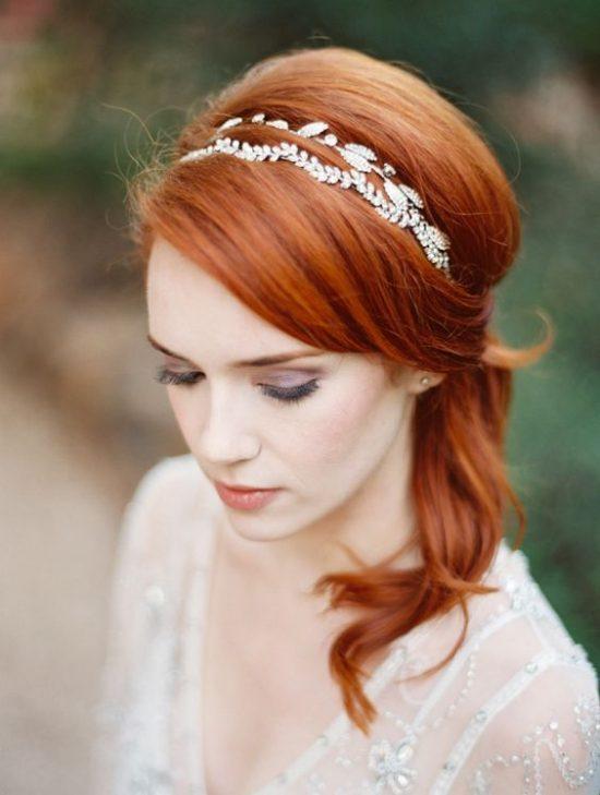 Fryzury ślubne dla rudych włosów - 20