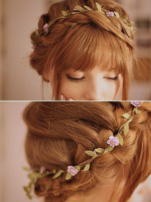 Fryzury ślubne dla rudych włosów - 5