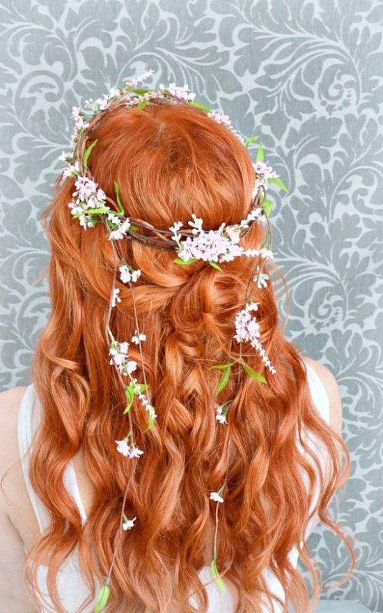 Fryzury ślubne dla rudych włosów - 7