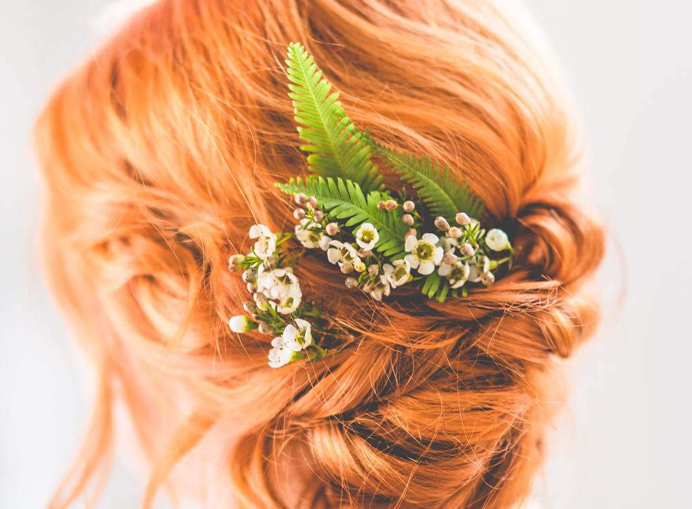 Fryzury ślubne dla rudych włosów - inspiracje 1