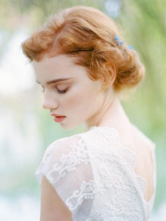 Fryzury ślubne dla rudych włosów - 10