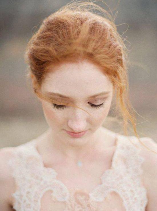 Fryzury ślubne dla rudych włosów - 13