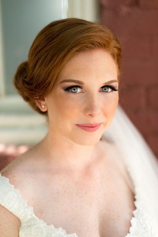 Fryzury ślubne dla rudych włosów - 17