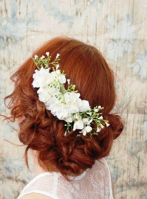 Fryzury ślubne dla rudych włosów - 23