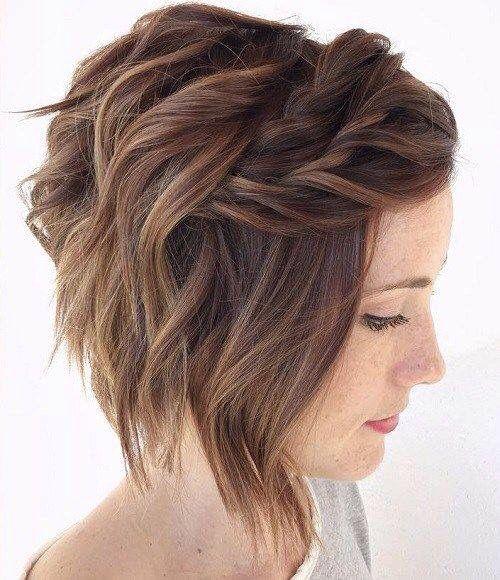 fryzury ślubne dla świadkowej - krótkie