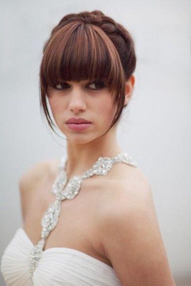 Fryzury ślubne Z Grzywką Trendy Inspiracje Porady Dla