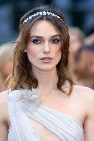 Fryzury ślubne z grzywką w stylu gwiazd - Keira Knightley