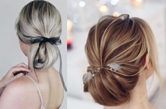 fryzury ślubne ze wstążką - zdjęcie 6