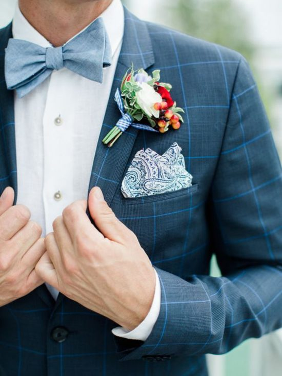 jak dobrać garnitur do sukni ślubnej krata