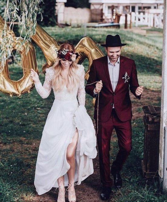 jak dobrać garnitur do sukni ślubnej stylem