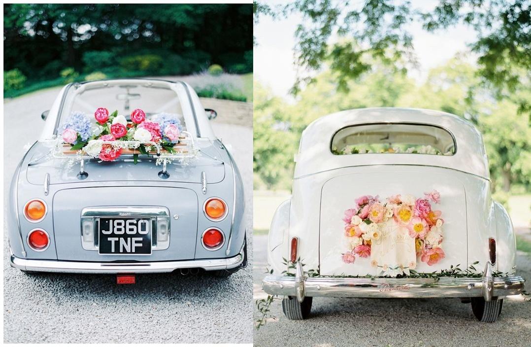 Jak samodzielnie udekorować samochód na ślub - kwiaty - zdjęcie 1