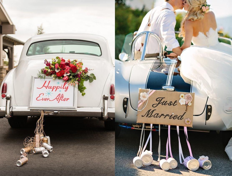 ak samodzielnie udekorować samochód na ślub - puszki - zdjęcie 2