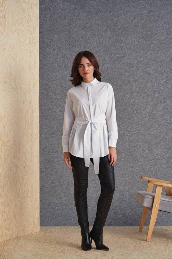 Jak wyszczuplić sylwetkę stylizacją - koszula