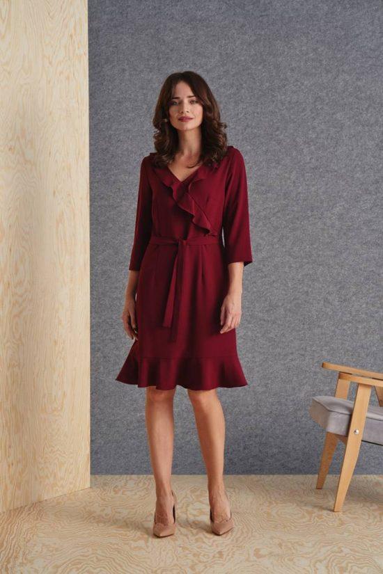 Jak wyszczuplić sylwetkę stylizacją - sukienka