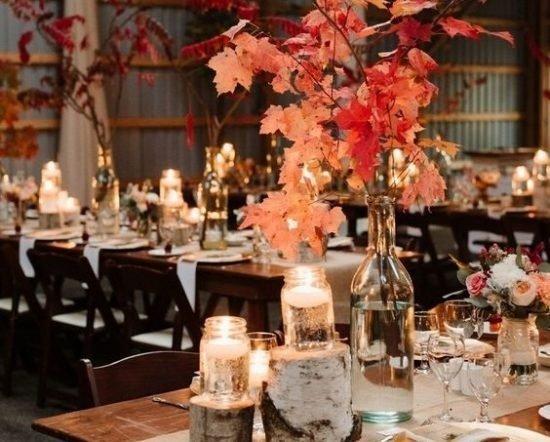 dekoracje jesienne na wesele