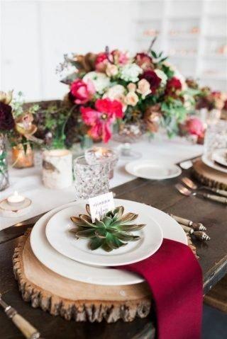 Jesienne dekoracje weselne – stoły