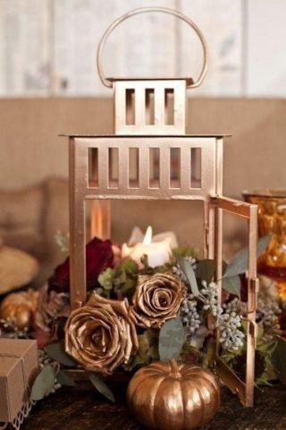 Jesienne dekoracje weselne – lampiony