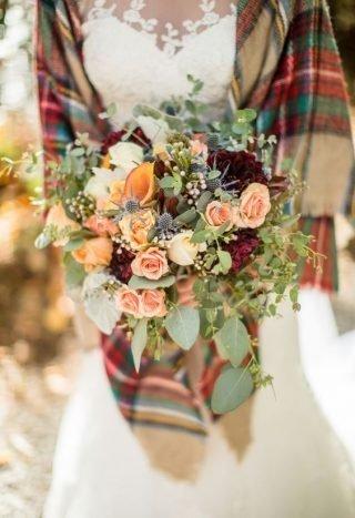 Jesienne dekoracje weselne – bukiety