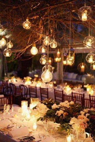 Jesienne dekoracje weselne – oświetlenie
