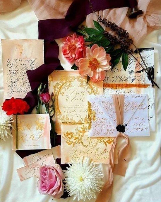 Jesienne dekoracje weselne – papeteria