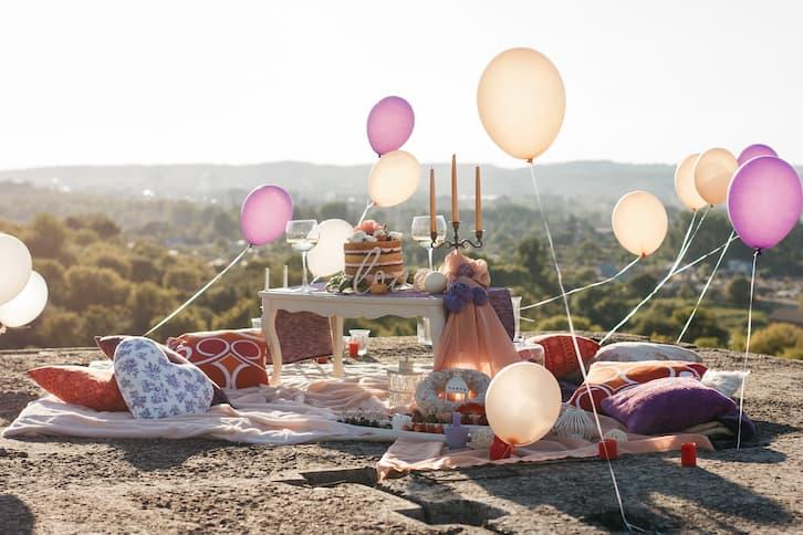 balony z helem atrakcje na wesele