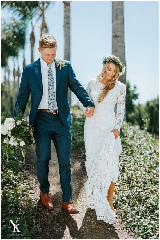 Kolorowe garnitury ślubne - zdjęcie 10