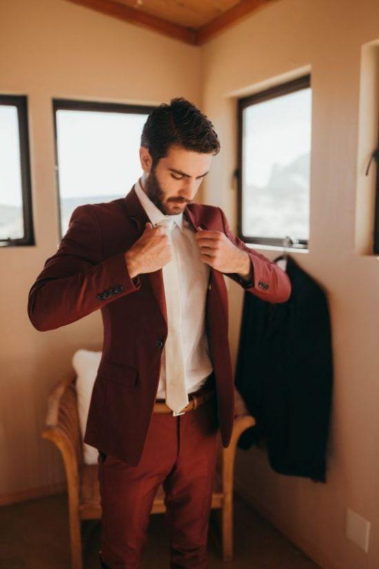 Kolorowe garnitury ślubne - zdjęcie 11