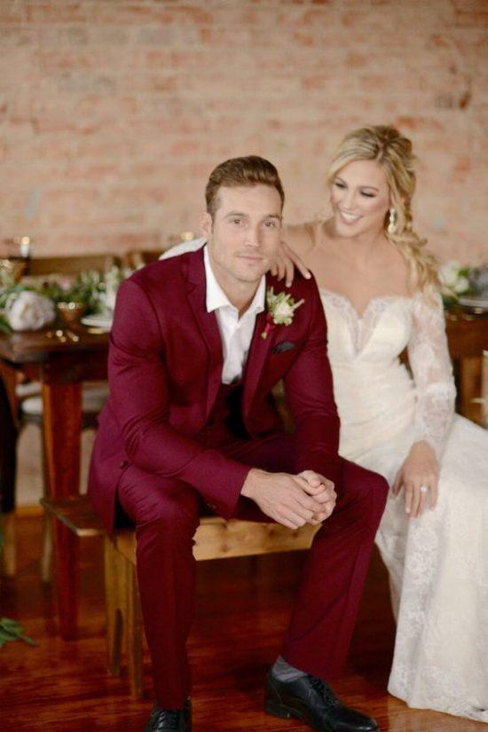 Kolorowe garnitury ślubne - zdjęcie 12