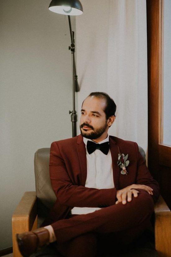 Kolorowe garnitury ślubne - zdjęcie 4