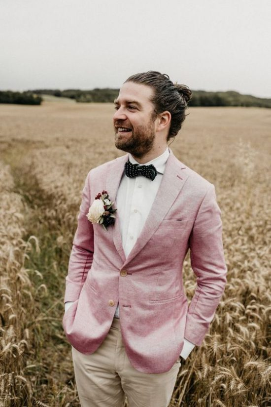 Kolorowe garnitury ślubne - zdjęcie 5
