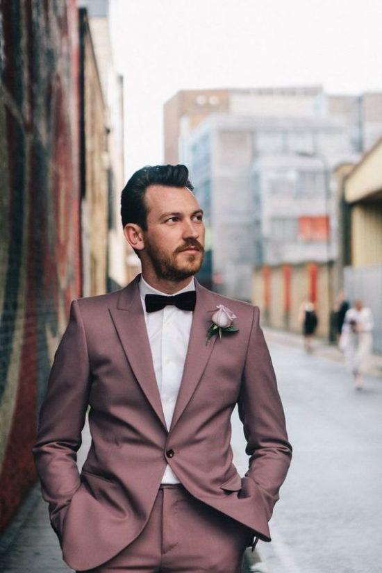 Kolorowe garnitury ślubne - zdjęcie 6
