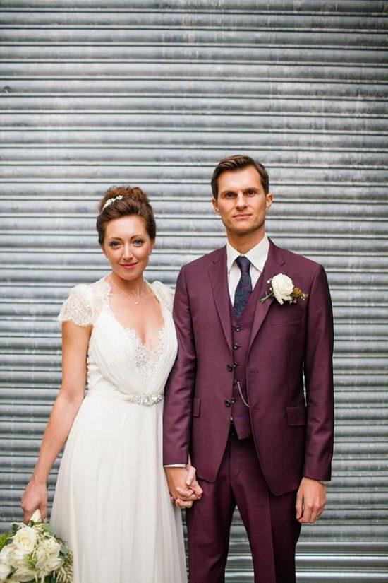 Kolorowe garnitury ślubne - zdjęcie 7