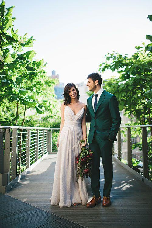 Kolorowe garnitury ślubne - zdjęcie 8