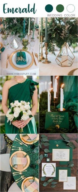 szmaragdowy kolor przewodni wesela