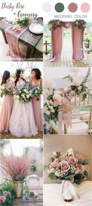 różowy kolor przewodni wesela