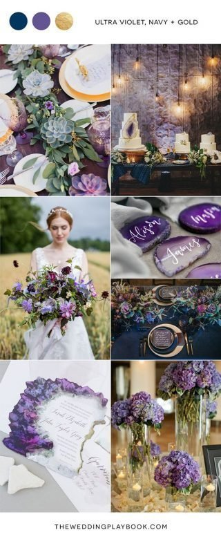 fioletowy kolor przewodni wesela
