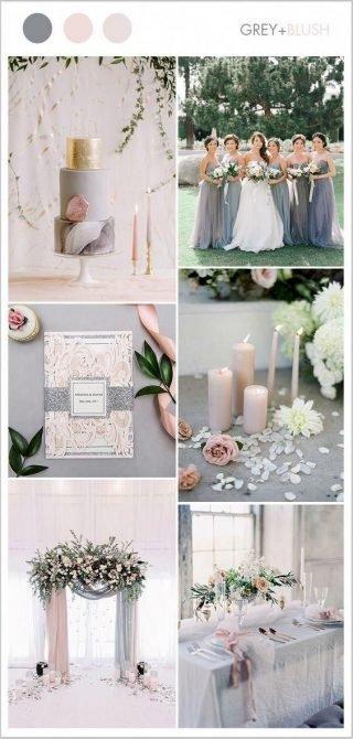 pudrowy kolor przewodni wesela