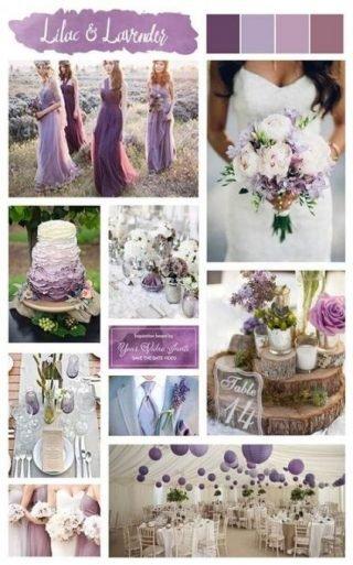 lawendowy kolor przewodni wesela