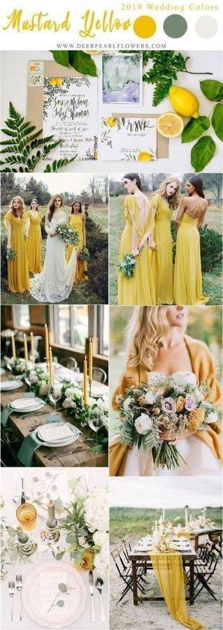 kolor przewodni wesela mellow yellow