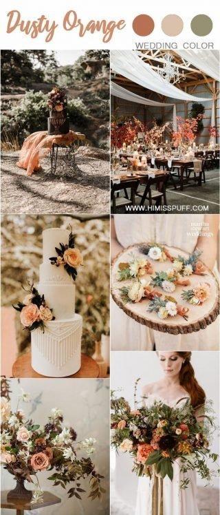 kolor przewodni wesela oranż