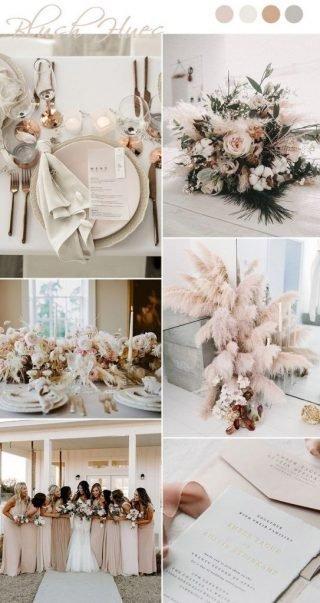 kremowy kolor przewodni wesela