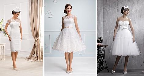 c37b34c250 Krótkie suknie ślubne cieszą się w ostatnich czasach coraz większą  popularnością. Na suknię w takiej długości zdecydują się z pewnością  kobiety