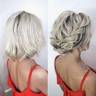 Upięcia ślubne z krótkich włosów