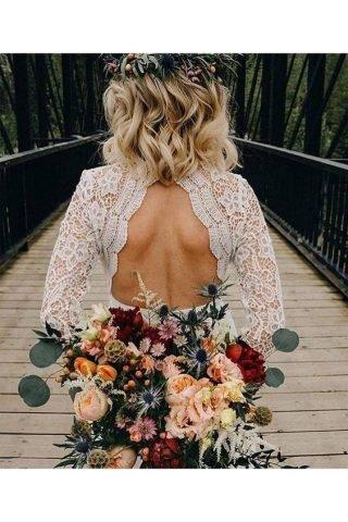 Kręcone krótkie fryzury ślubne