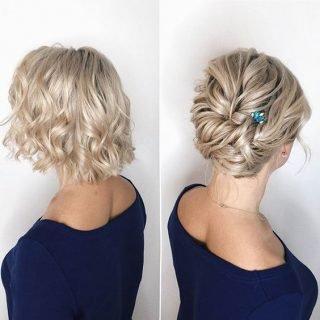 Fryzura ślubna z krótkich włosów
