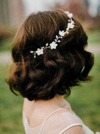 Krótkie loki - fryzury ślubne