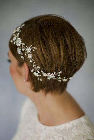 Krótkie włosy - fryzury ślubne